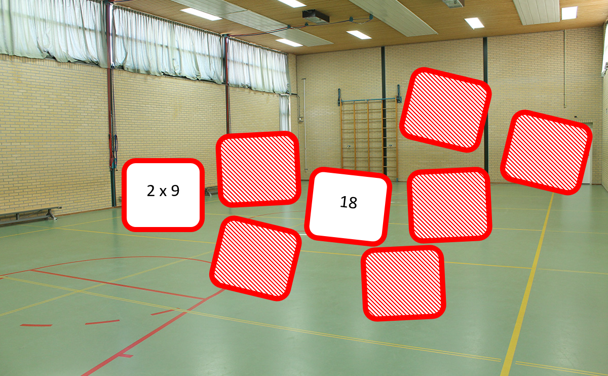 Bekend Math Gym: Reken Memory in de gymzaal - Alles over rekenen &KU77